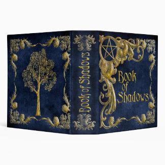 Libro de las sombras azules con puntos culminantes