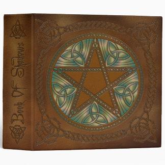 """Libro de las sombras Brown de oro y del Pentagram Carpeta 2"""""""
