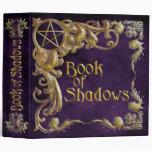 Libro de las sombras púrpuras con puntos culminant