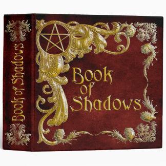 Libro de las sombras rojas con puntos culminantes
