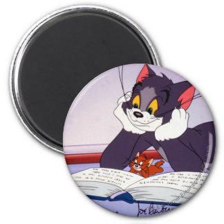 Libro de lectura de Tom y Jerry dedicado Imán Redondo 5 Cm