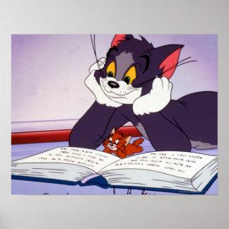 Libro de lectura de Tom y Jerry dedicado Póster