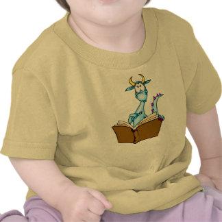 Libro de lectura del dragón camiseta