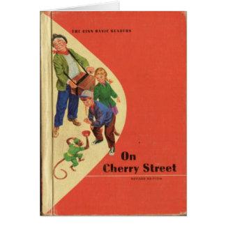 Libro de lectura del vintage a partir de los 'años tarjeta pequeña