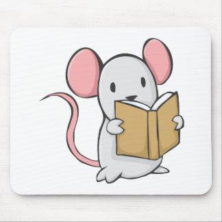 Libro de lectura lindo del ratón tapetes de ratones