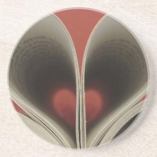 Libro de los prácticos de costa de los corazones posavasos para bebidas