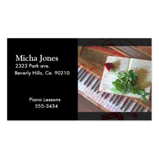 Libro de música floral subió en piano tarjetas de visita
