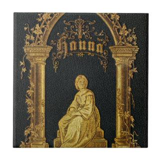 Libro de oración judío dorado Hanna de la antigüed Azulejos