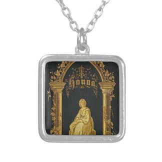 Libro de oración judío dorado Hanna de la antigüed Colgante