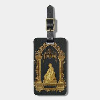 Libro de oración judío dorado Hanna de la antigüed Etiqueta Para Maleta