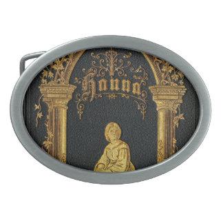 Libro de oración judío dorado Hanna de la antigüed Hebillas De Cinturón Ovales