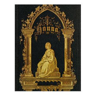Libro de oración judío dorado Hanna de la Postales
