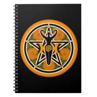 Libro de oro de la diosa de sombras libreta espiral