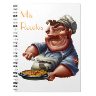 Libro de Recetas de Cocina Española con Paella M2 Libros De Apuntes