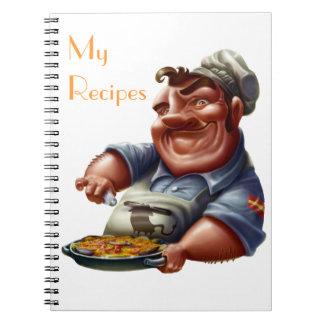 Libro de Recetas de Cocina Española con Paella M3 Spiral Notebook