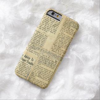 Libro de recuerdos antiguo de los recortes de funda de iPhone 6 barely there
