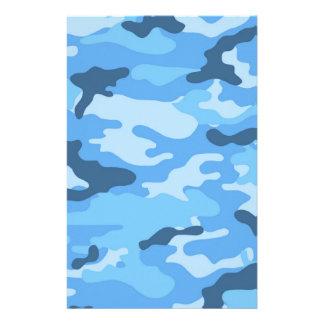 Libro de recuerdos azul del camuflaje que hace el papelería de diseño