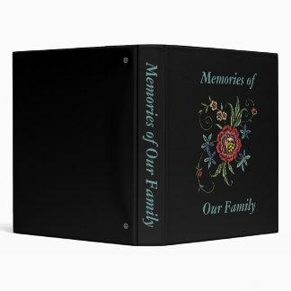 """Libro de recuerdos bordado/de la apariencia vintag carpeta 1"""""""