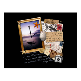 """Libro de recuerdos/collage del """"tiempo"""" tarjetas postales"""
