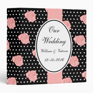 Libro de recuerdos color de rosa rosado del boda