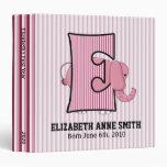 """Libro de recuerdos con monograma del bebé de """"E"""" d"""