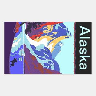 Libro de recuerdos de Alaska de los pegatinas del Rectangular Pegatina
