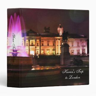 """Libro de recuerdos de Londres - cuadrado de Carpeta 1 1/2"""""""