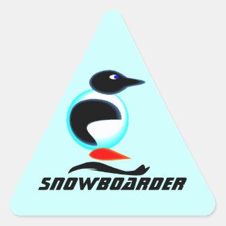 Libro de recuerdos de neón de la snowboard del pegatina triangular