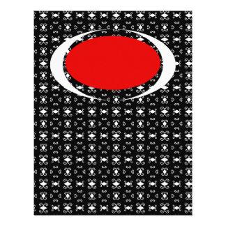 Libro de recuerdos o papel de letra rojo blanco ne membrete a diseño