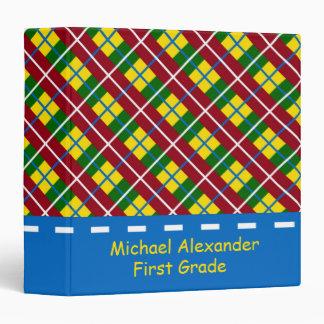 Libro de recuerdos personalizado tela escocesa de