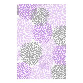 Libro de recuerdos púrpura de la dalia de la  papeleria