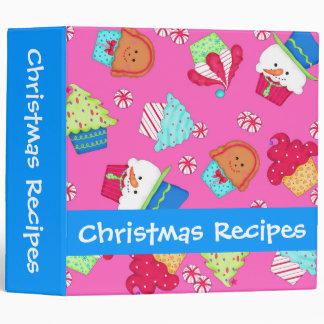"""Libro de recuerdos rosado brillante de la receta carpeta 2"""""""