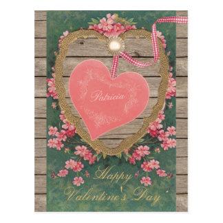 Libro de recuerdos rosado del corazón CC0832 de la Tarjetas Postales
