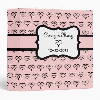 Libro de recuerdos rosado personalizado del boda d