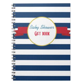 Libro de regalo náutico de la fiesta de bienvenida spiral notebooks