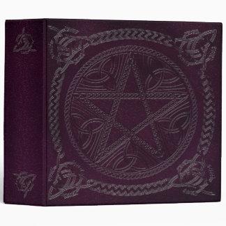 """Libro de sombras en púrpura con el Pentagram 1B Carpeta 2"""""""