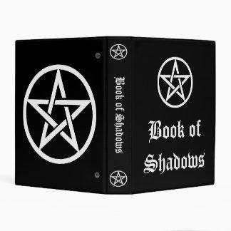 Libro de sombras, negro de las brujas del mini carpeta