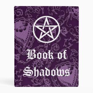 Libro de sombras, púrpura Paisley de las brujas Mini Carpeta
