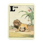 Libro de vagabundeo de la historia del león imanes flexibles