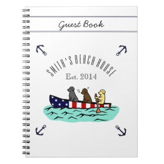 Libro de visitas Canoeing de la casa de playa de Note Book