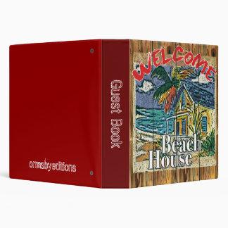 Libro de visitas - cuaderno de la casa de playa