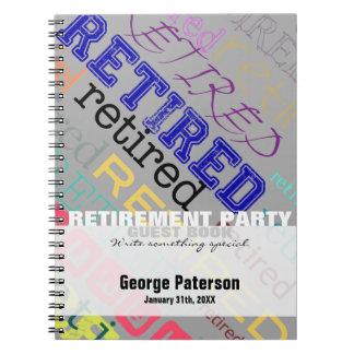 Libro de visitas de encargo jubilado 1 del fiesta note book