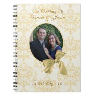 Libro de visitas de encargo precioso del boda del  libretas espirales