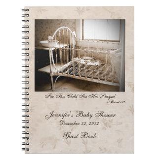 Libro de visitas de la fiesta de bienvenida al beb libros de apuntes con espiral