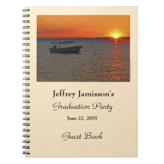 Libro de visitas de la fiesta de graduación, barco libro de apuntes