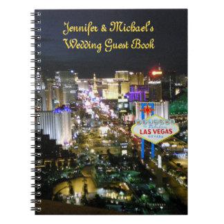 Libro de visitas de los bodas de Las Vegas Libreta
