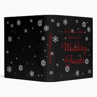 Libro de visitas del boda del invierno
