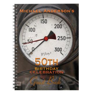 Libro de visitas del cumpleaños del manómetro libretas