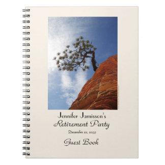 Libro de visitas del fiesta de retiro, árbol de spiral notebooks