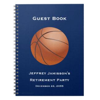 Libro de visitas del fiesta de retiro, baloncesto libretas espirales